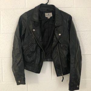 Black Vegan Leather Jacket Size Small
